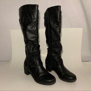 White mountain tall boot knee high over calf 6.5 m